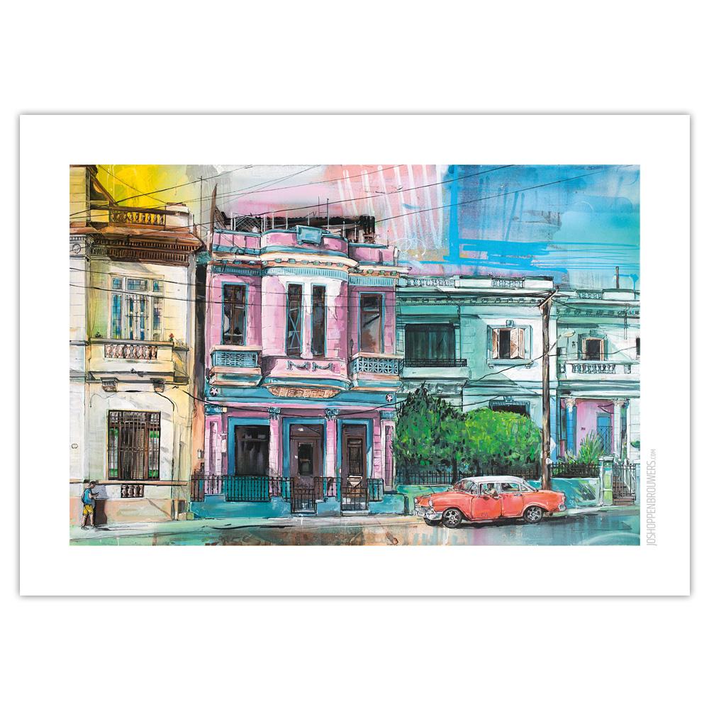 Poster Havana by Jos Hoppenbrouwers