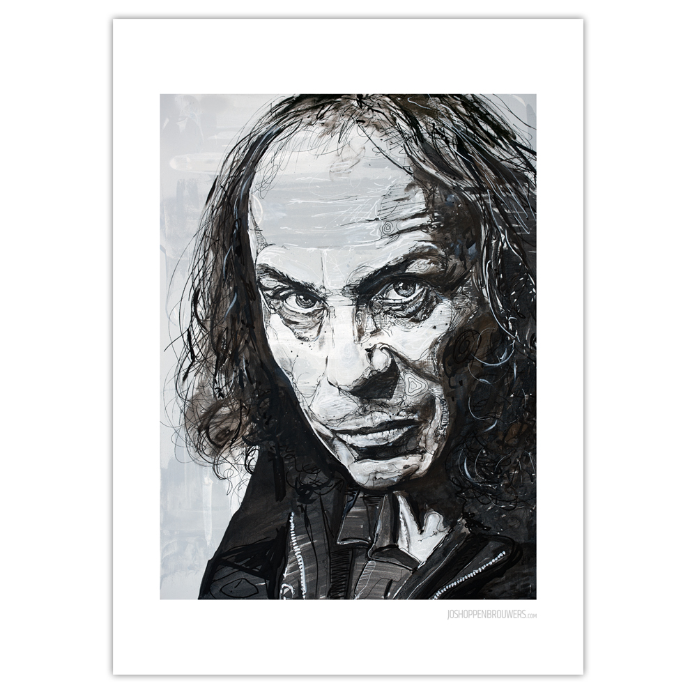 Poster Ronnie James Dio by Jos Hoppenbrouwers