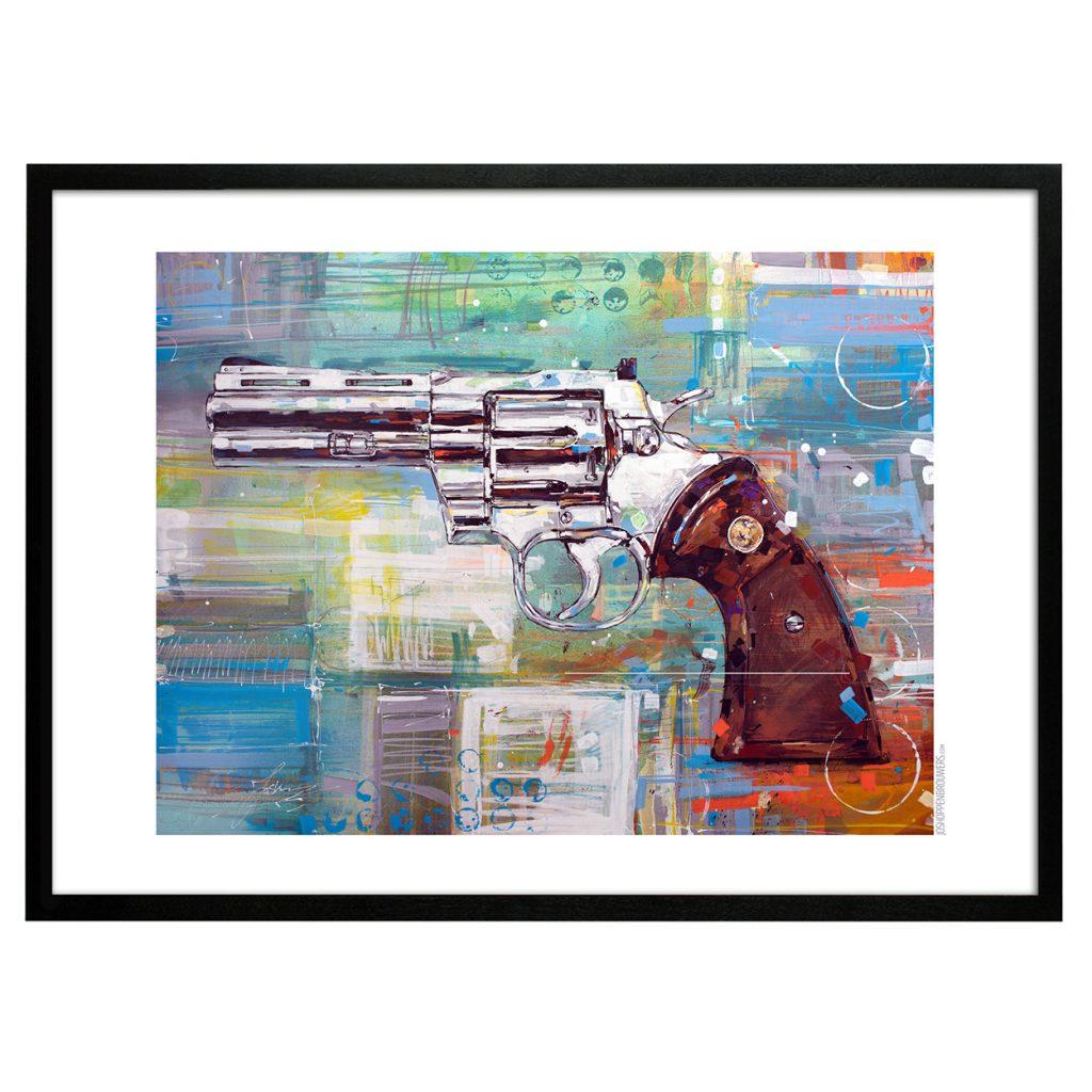 Colt Python Print poster art canvas plakat affiche kunst Revolver Coltprint Coltposter coltart Gun guns revolvers