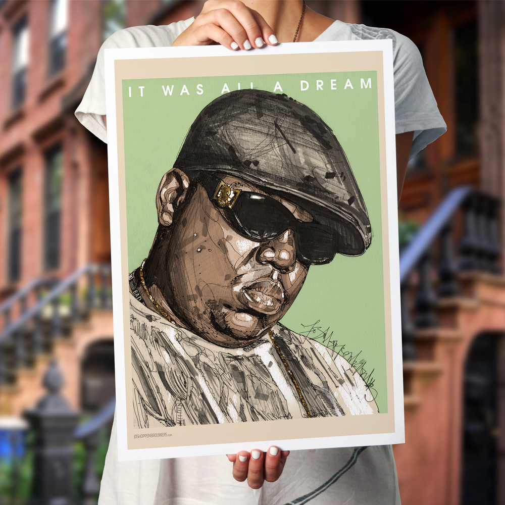 NotoriousBIG Notorious.B.I.G theNotoriousBIG Biggie biggieprint biggieposter NotoriousBIGprint NotoriousBIGposter NotoriousBIGpainting NotoriousBIGart hiphopprint christopher wallacechristopher wallace hihop art poster print hiphopposter