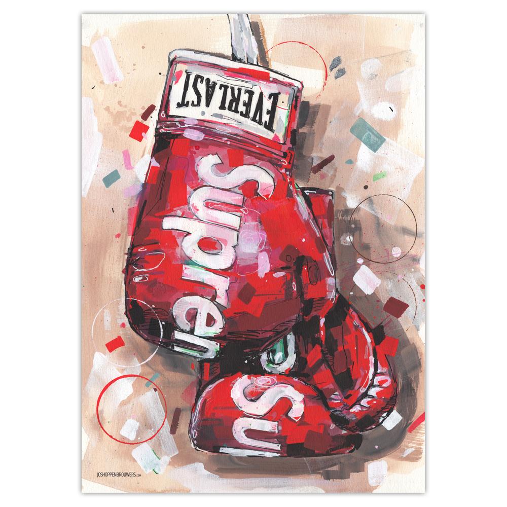 Supreme X Everlast Plakat (50x70cm) - Jos Hoppenbrouwers Art