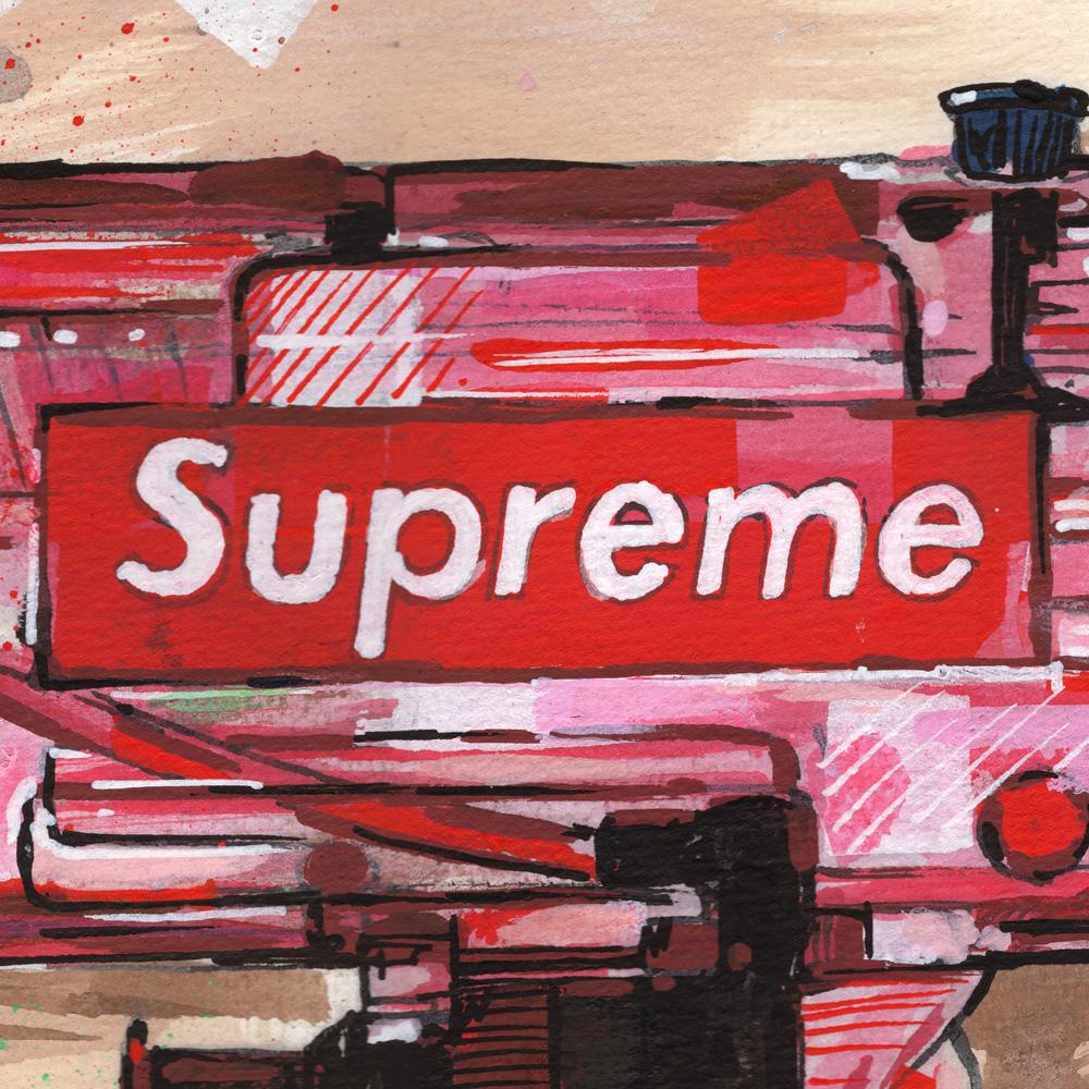 Supreme SupremeNY supremeNYC supremewatergun watergun UZI UZIart supremelogo supremeclothes art gunart