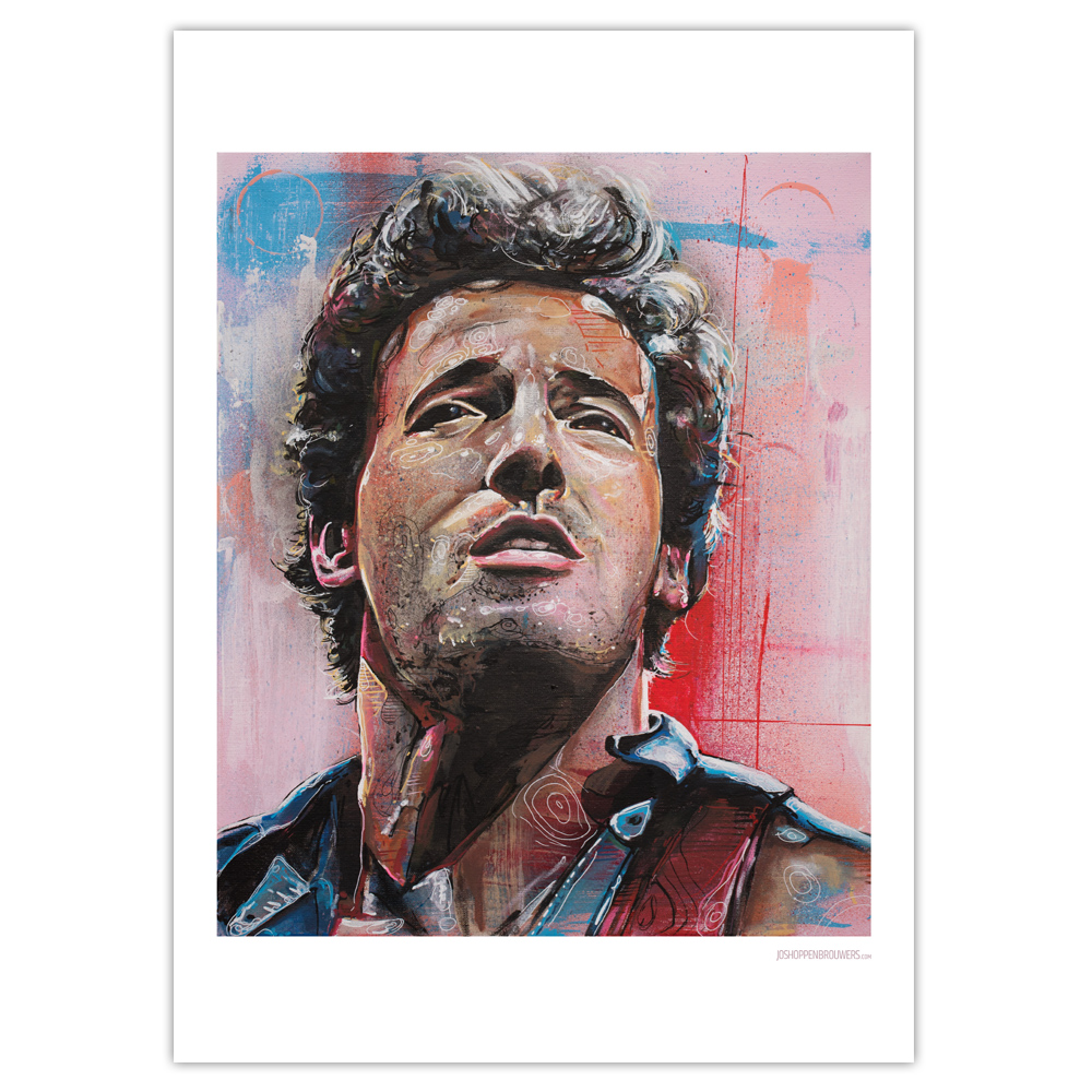 Bruce Springsteen Print Bruce Springsteen poster Bruce Springsteen art Bruce Springsteencanvas Bruce Springsteen posters Bruce Springsteen painting the boss art the boss painting the boss print brucespringsteenprint brucespringsteenposter