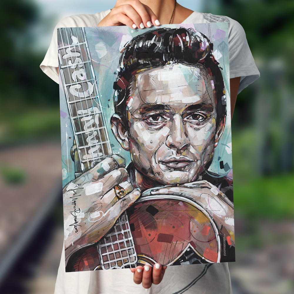 Johnny cash JohnnyCash JohnnyCashposter JohnnyCashprint JohnnyCashart JohnnyCashpainting JohnnyCashcanvas Cashprint Cashsposter Cashsprint Cashspainting walktheline
